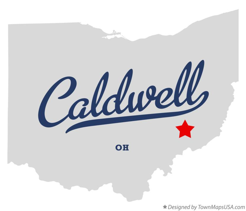 Map of Caldwell Ohio OH