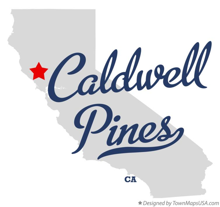 Map of Caldwell Pines California CA