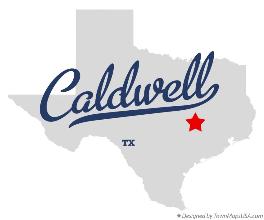 Map of Caldwell Texas TX