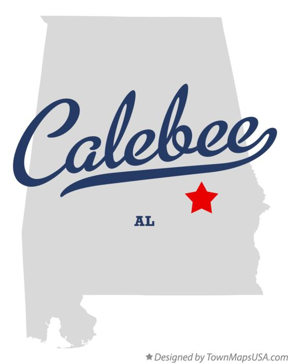 Map of Calebee Alabama AL