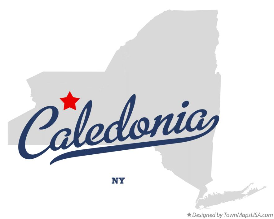 Map of Caledonia New York NY