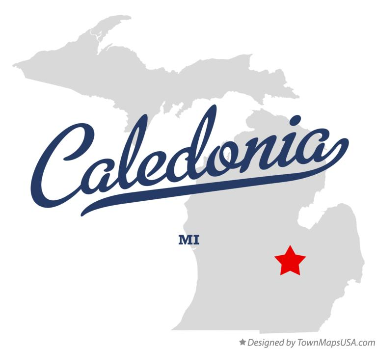Map of Caledonia Michigan MI