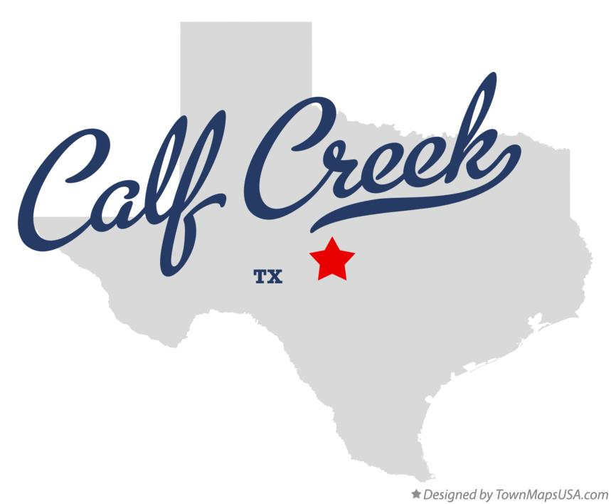 Map of Calf Creek Texas TX