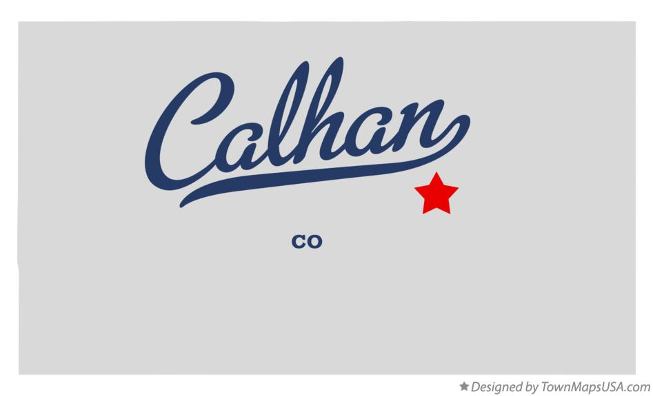 Map of Calhan Colorado CO