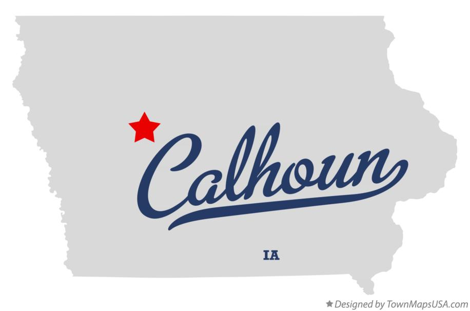 Map of Calhoun Iowa IA