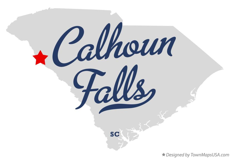 Map of Calhoun Falls South Carolina SC