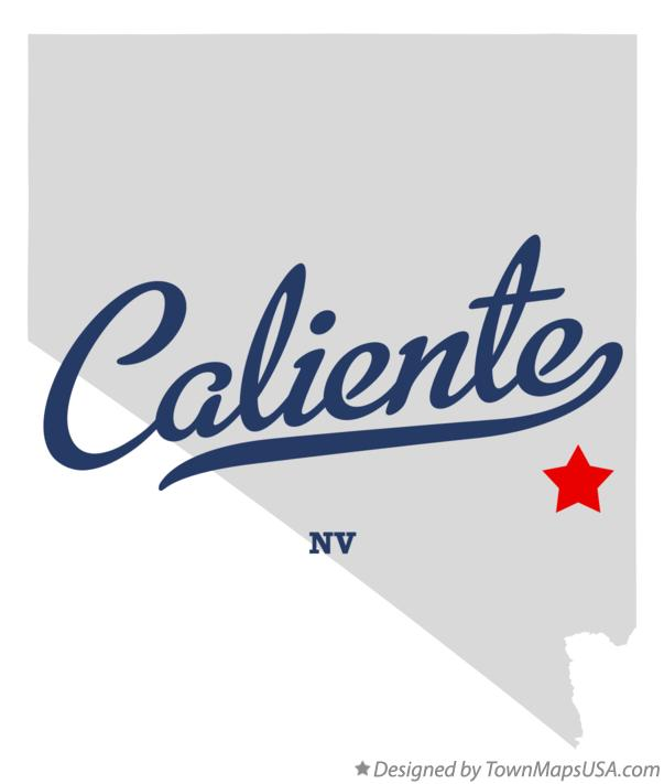 Map of Caliente Nevada NV