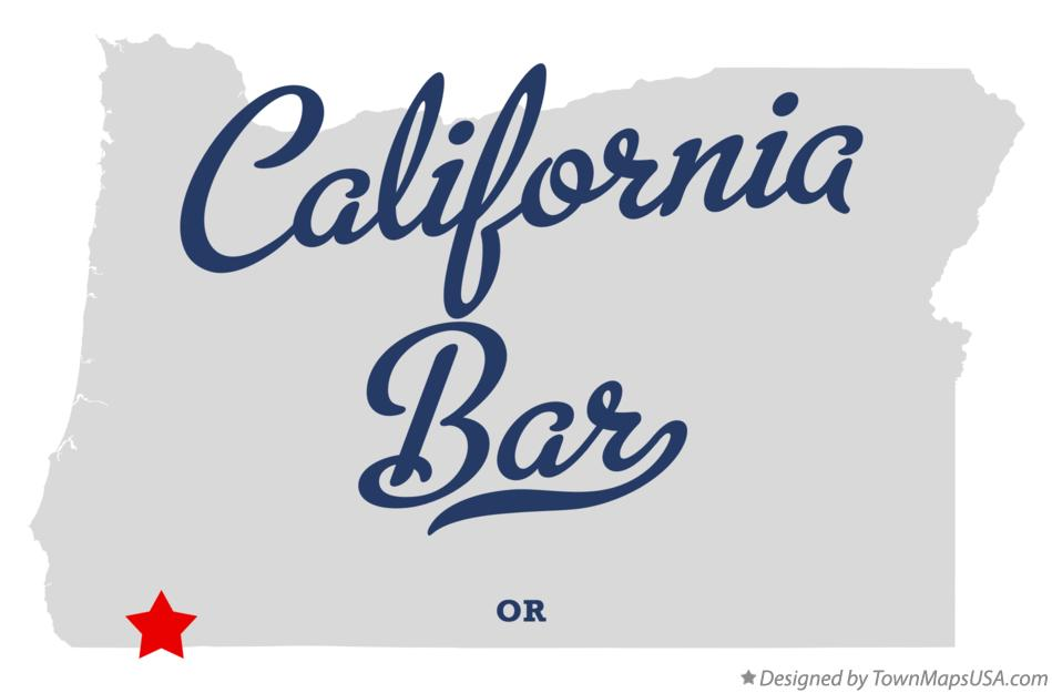 Map of California Bar Oregon OR