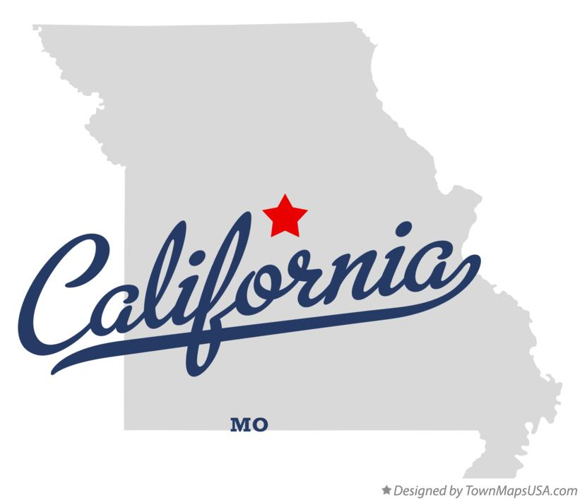 Map of California Missouri MO