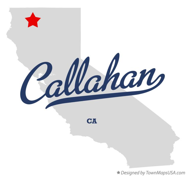 Map of Callahan California CA