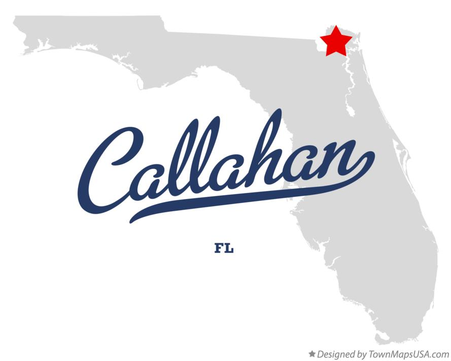 Map of Callahan Florida FL