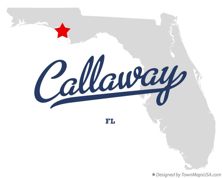 Map of Callaway Florida FL