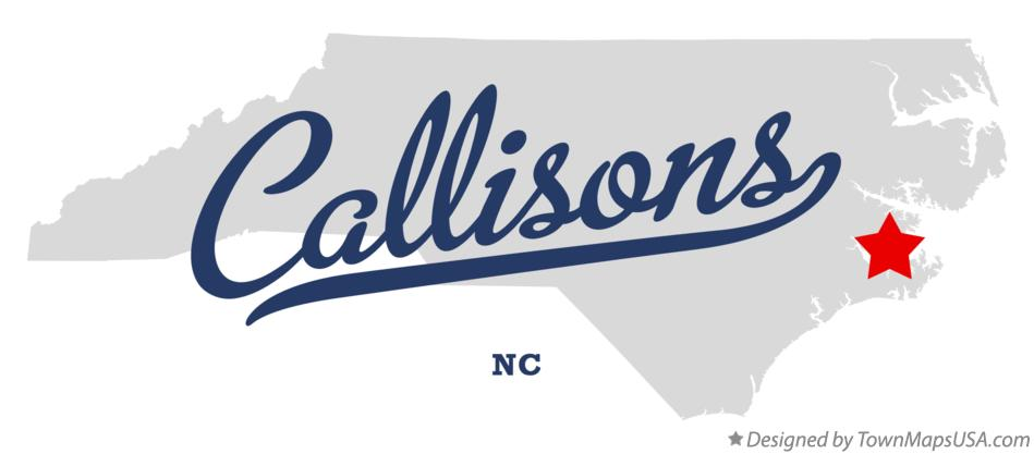Map of Callisons North Carolina NC