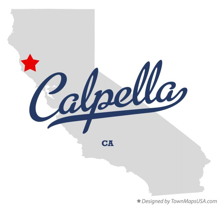Map of Calpella California CA