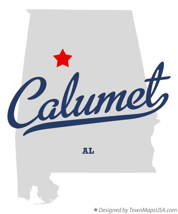 Map of Calumet Alabama AL