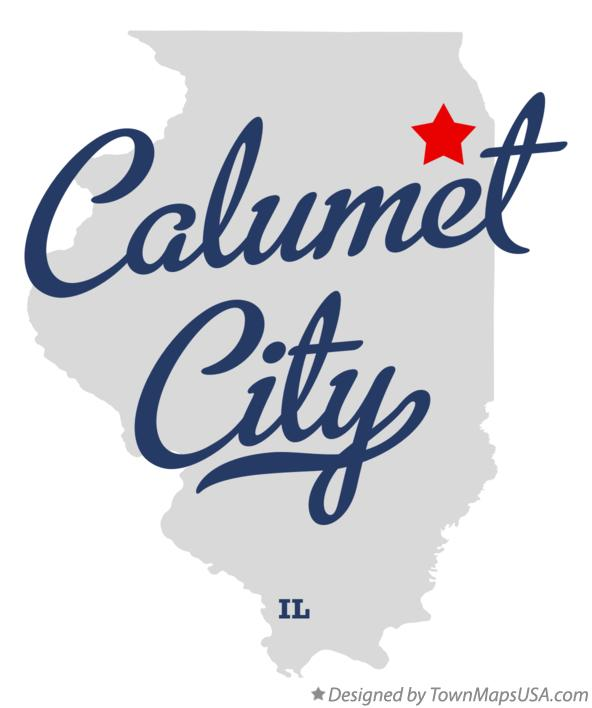 Map of Calumet City Illinois IL