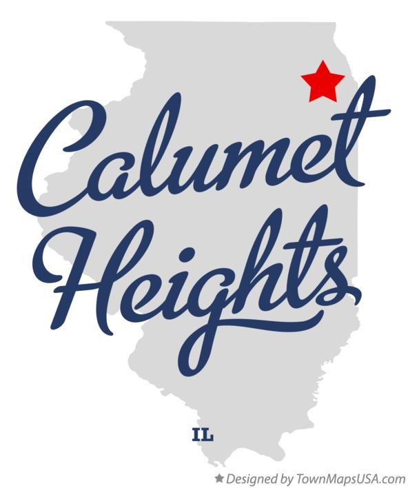 Map of Calumet Heights Illinois IL