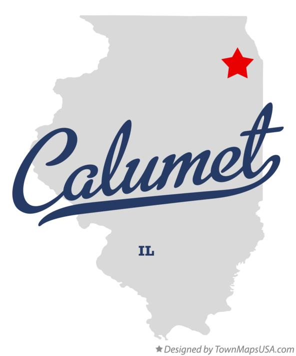 Map of Calumet Illinois IL