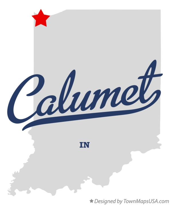Map of Calumet Indiana IN