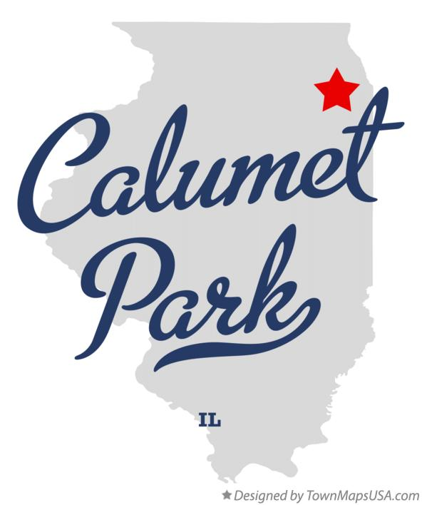 Map of Calumet Park Illinois IL