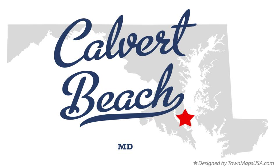 Map of Calvert Beach Maryland MD