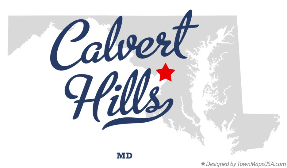 Map of Calvert Hills Maryland MD
