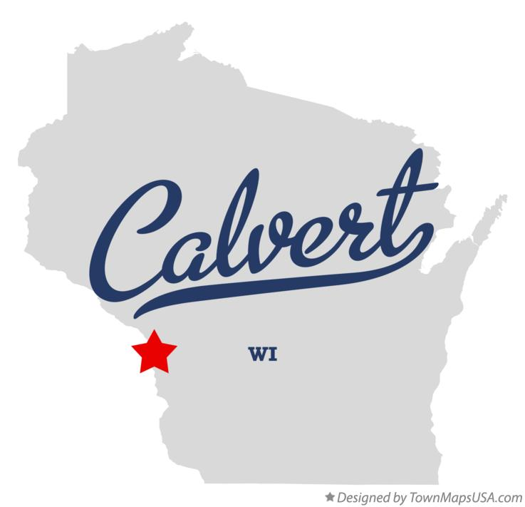 Map of Calvert Wisconsin WI