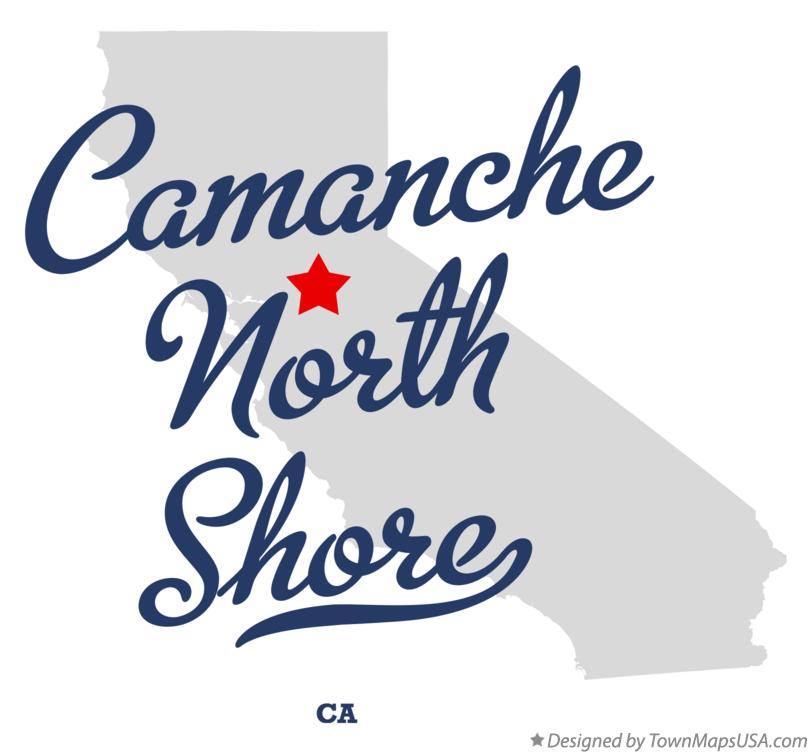 Map of Camanche North Shore California CA