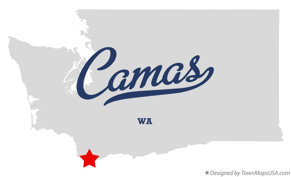 Map of Camas Washington WA