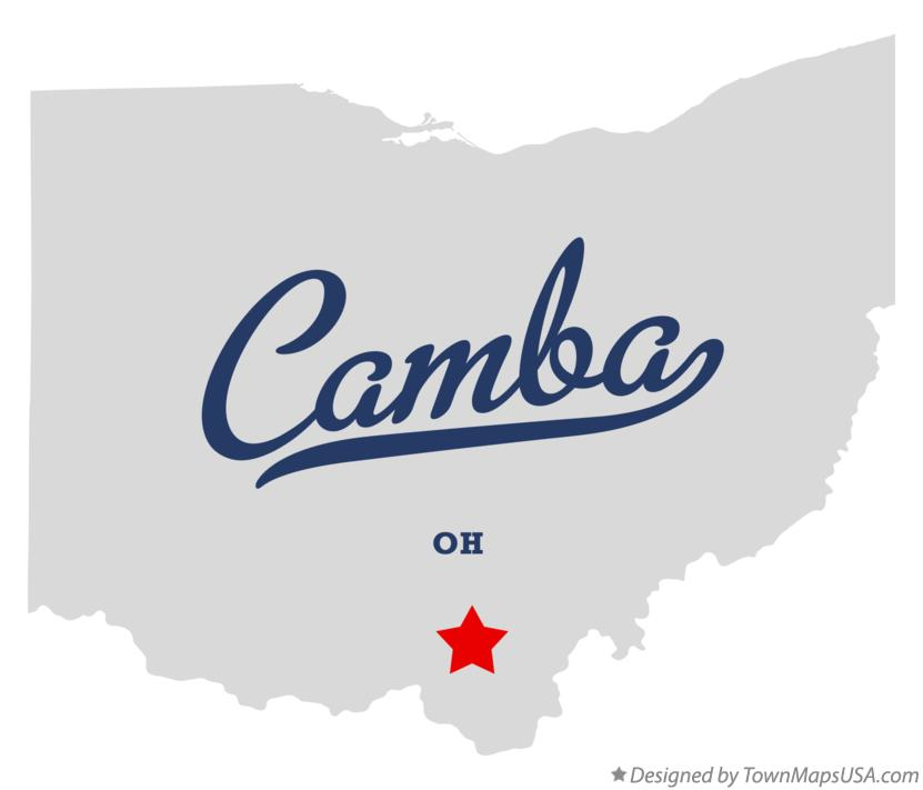 Map of Camba Ohio OH