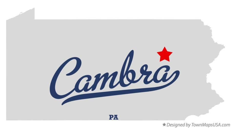 Map of Cambra Pennsylvania PA
