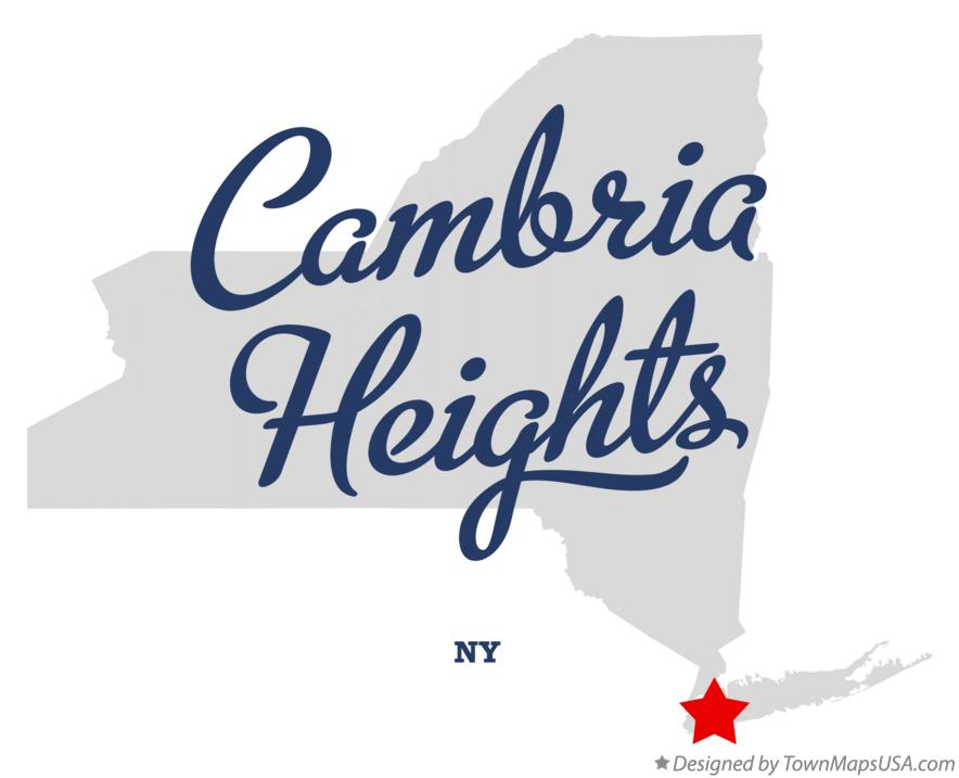 Map of Cambria Heights New York NY