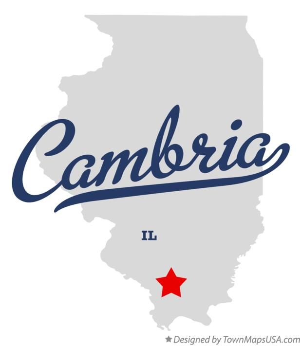 Map of Cambria Illinois IL