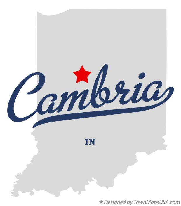 Map of Cambria Indiana IN