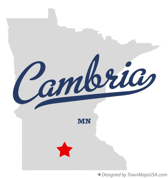 Map of Cambria Minnesota MN