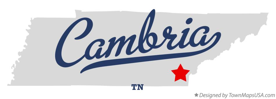 Map of Cambria Tennessee TN