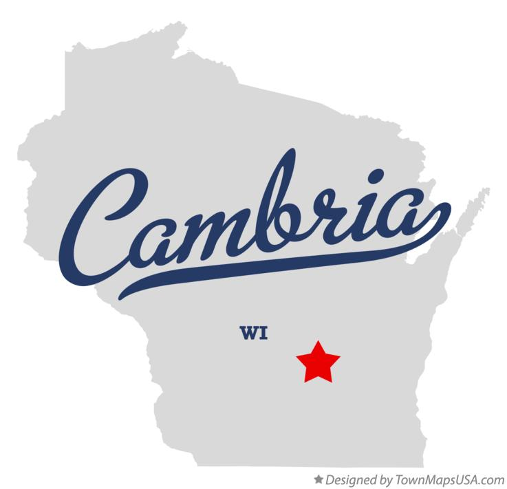 Map of Cambria Wisconsin WI
