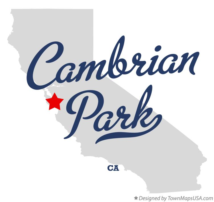 Map of Cambrian Park California CA