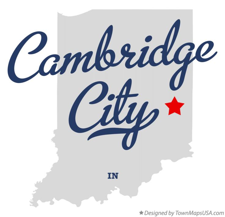 Map of Cambridge City Indiana IN