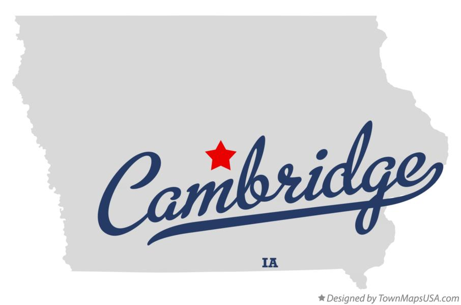 Map of Cambridge Iowa IA