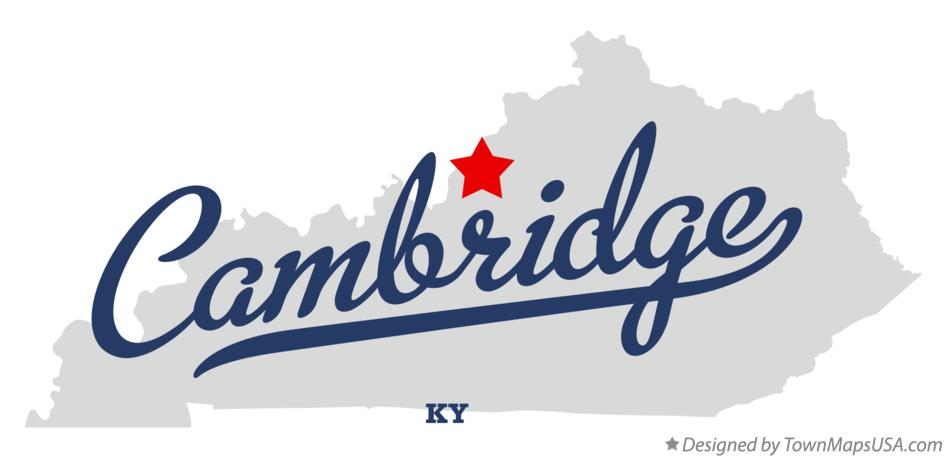 Map of Cambridge Kentucky KY