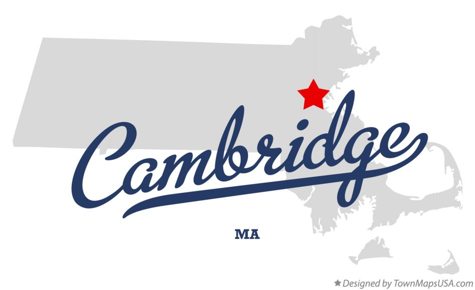 Map of Cambridge, Middlesex County, MA, Machusetts Cambridge Machusetts Map on