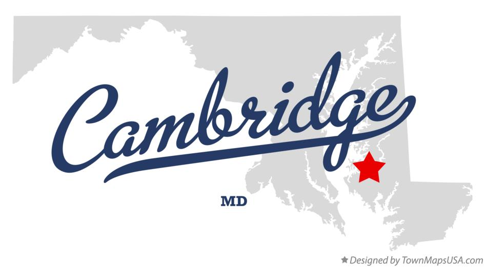 Map of Cambridge Maryland MD