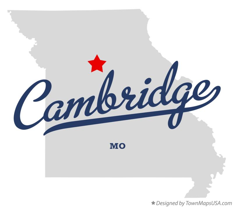 Map of Cambridge Missouri MO