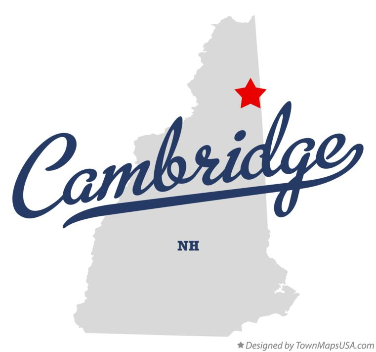 Map of Cambridge New Hampshire NH