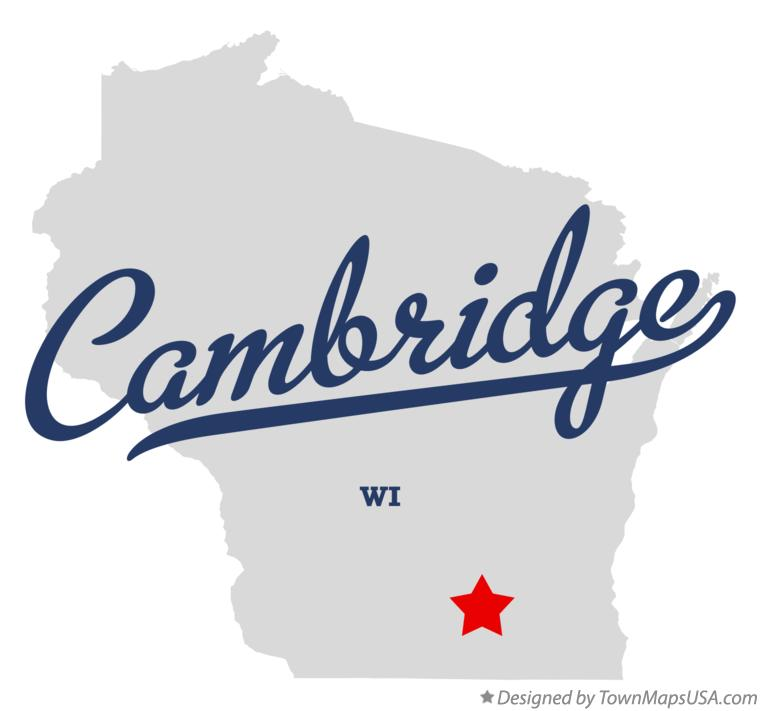 Map of Cambridge Wisconsin WI