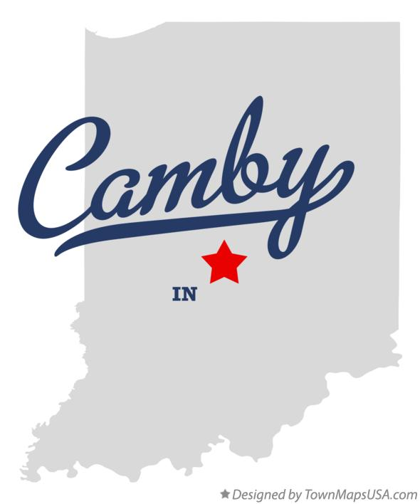 Map of Camby Indiana IN