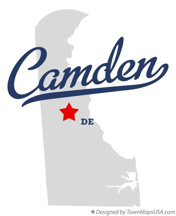 Map of Camden Delaware DE