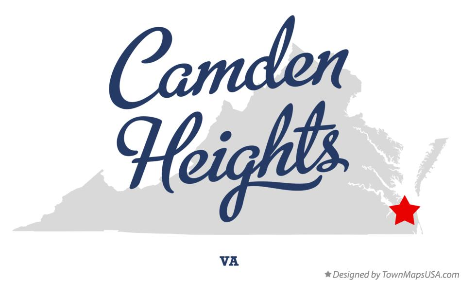 Map of Camden Heights Virginia VA