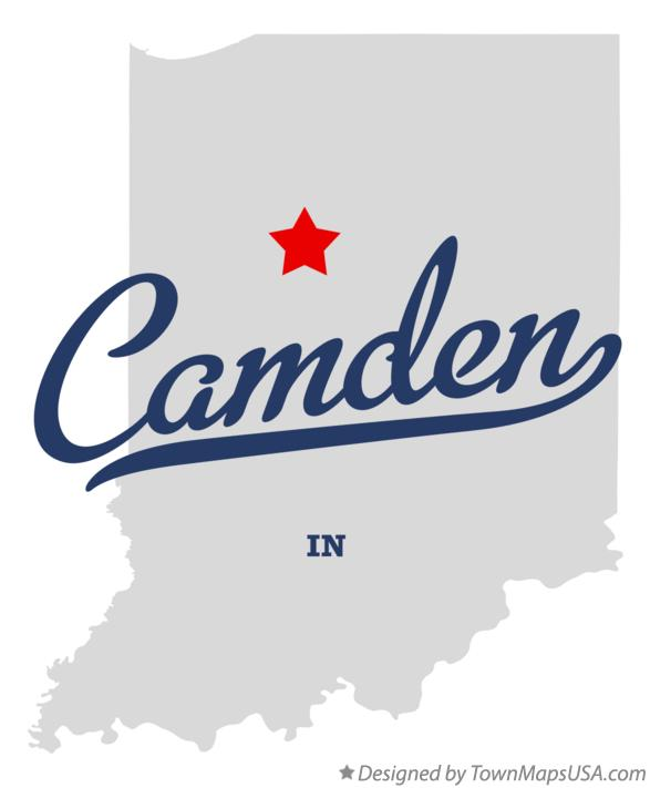 Map of Camden Indiana IN